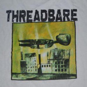 Vintage 90s THREADBARE Feeling Older Faster promo T-shirt