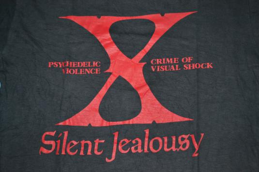 Vintage 90s X JAPAN Silent Jealousy Tour Promo T-shirt
