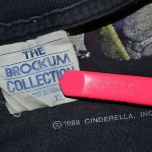Vintage 1988 CINDERELLA Long Cold Winter Concert Tour Tshirt