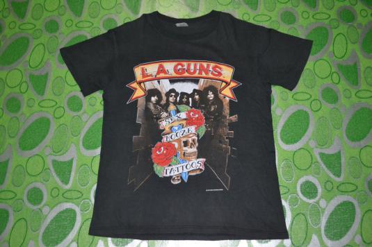 Vintage 1989 LA GUNS Cocked And Loaded Tour Concert T-shirt