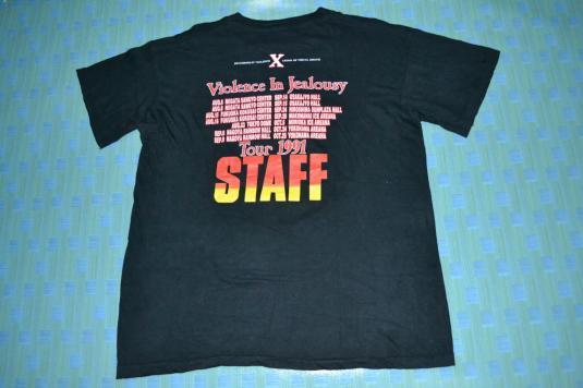 Vintage 1991 X JAPAN Violence In Jealousy Tour Promo T-shirt