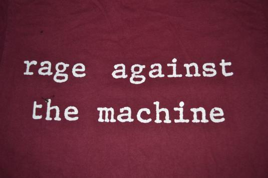 Vintage 90s RAGE AGAINST THE MACHINE RATM Molotov T-shirt
