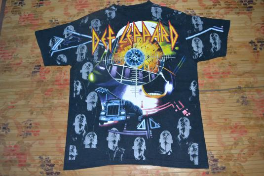 Vintage 90s DEF LEPPARD albums cover full print T-shirt