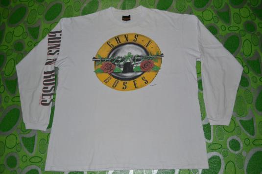 Vintage 1989 GUNS N ROSES Logo Tour Concert promo T-shirt