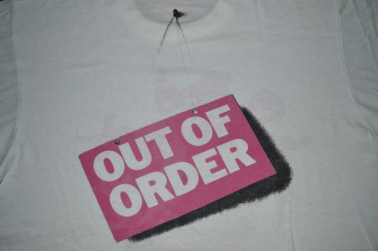 Vintage 1988 ROD STEWART Out of Order Promo Tour T-shirt