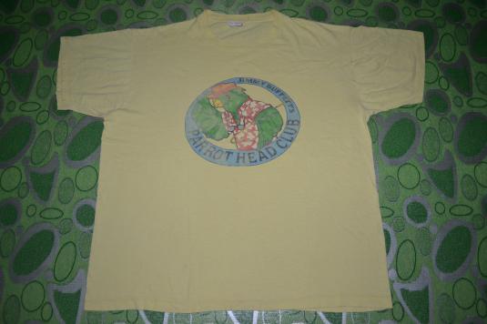 Vintage JIMMY BUFFETT Parrot Head Club Concert 80s T-shirt