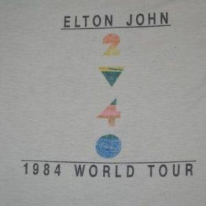 Vintage 1984 ELTON JOHN Too Low For Zero World Tour T-shirt