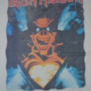 Vintage 80s IRON MAIDEN Tour Concert Promo album T-shirt