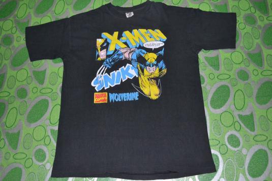 Vintage 90s X-MEN WOLVERINE Marvel Comics T-shirt