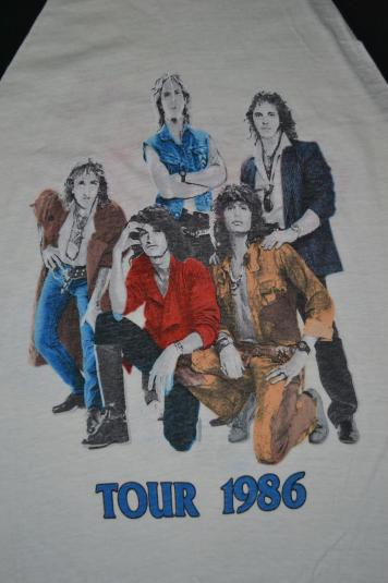 Vintage AEROSMITH Done With Mirrors Tour Concert 1986 Tshirt