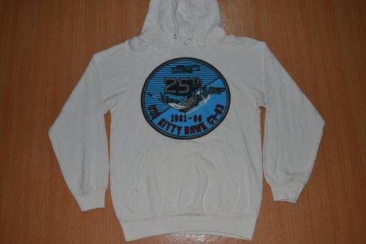 Vintage 1986 25th Year USS KITTY HAWK CV-63 Hoodie shirt