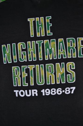 Vintage ALICE COOPER The Nightmare Returns Tour 1986 T-shirt