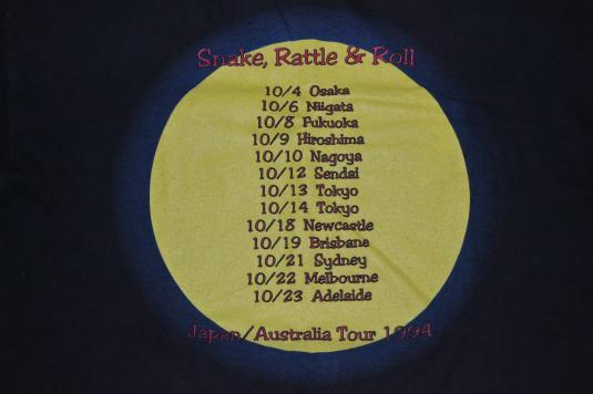 Vintage WHITESNAKE Snake Rattle and Roll Tour 1994 T-shirt