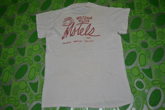 Vintage 70s THE MOTELS Dc 101 FM Stereo Tour Concert T-shirt