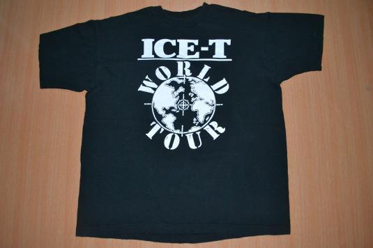 Vintage 90s ICE-T World Tour T-shirt