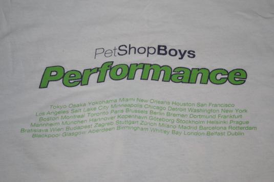 Vintage 1991 PET SHOP BOYS Performance Tour Concert T-shirt