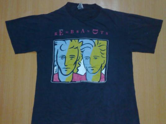 Vintage 90s REMBRANDTS Mechanics punk rock Tshirt