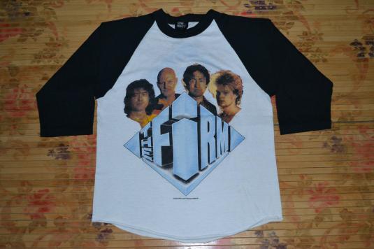 VINTAGE 1985 THE FIRM CONCERT TOUR BASEBALL JERSEY T-SHIRT