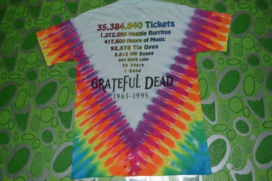 Vintage 90s GRATEFUL DEAD 30 Years Anniversary Tour T-shirt