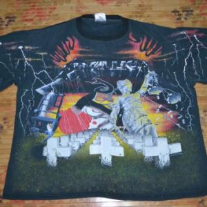 Vintage 1991 METALLICA Concert Pushead allover t-shirt