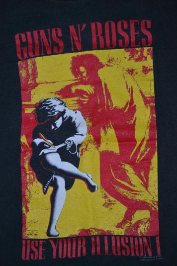 Vintage 1991 GUNS N ROSES Use Your IllusionConcert T-shirt