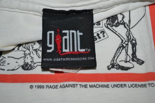 Vintage 90s RAGE AGAINST THE MACHINE RATM pop art T-shirt