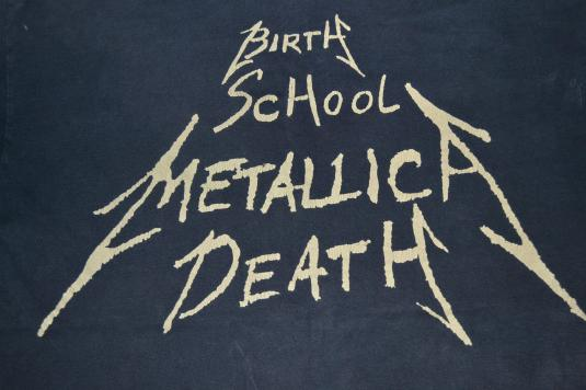 VINTAGE 1994 METALLICA BIRTH SCHOOL METALLICA DEATH T-SHIRT