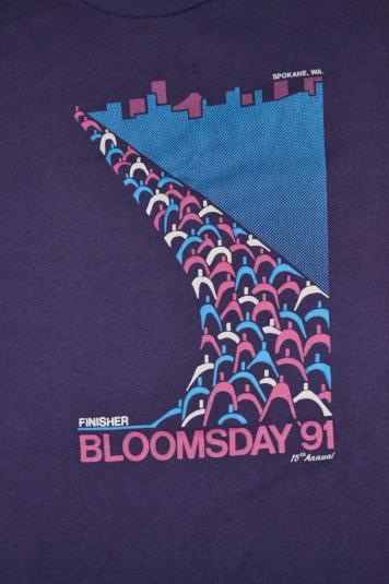 Vintage NIKE Bloomsday Finisher Spokane 15 Anual 1991 Tshirt