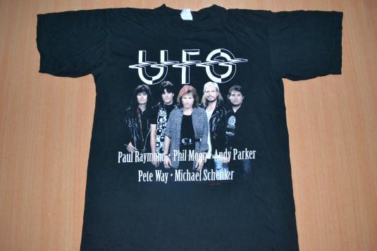 Vintage 1993 UFO MSG Michael Schenker T-shirt