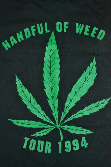 Vintage 90s SAVATAGE Handful Of Weed Tour Concert T-shirt