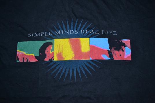 VINTAGE 1990 SIMPLE MINDS REAL LIFE TOUR CONCERT PROMO SHIRT