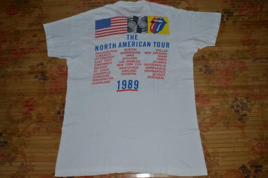 Vintage 1989 THE ROLLING STONES Steel Wheeles T-shirt