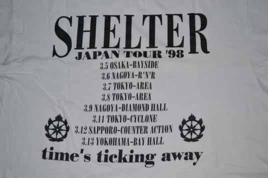 Vintage 90s SHELTER Japan Tour T-shirt