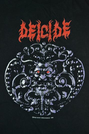 Vintage 1990 DEICIDE Tour Promo Blue Grape T-shirt