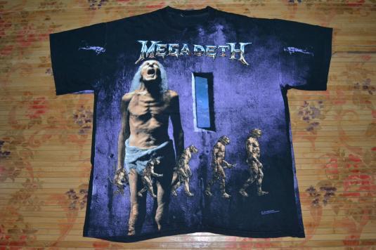 Vintage 1992 MEGADETH Countdown to Extinction Concert Tshirt