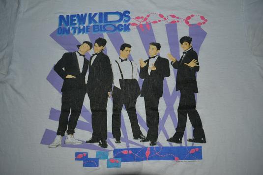 Vintage 1989 New Kids On The Block Tour Concert T-shirt