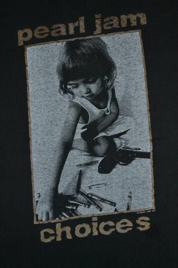 VINTAGE 1992 PEARL JAM CHOICES PROMO ALBUM MUDHONEY T-SHIRT
