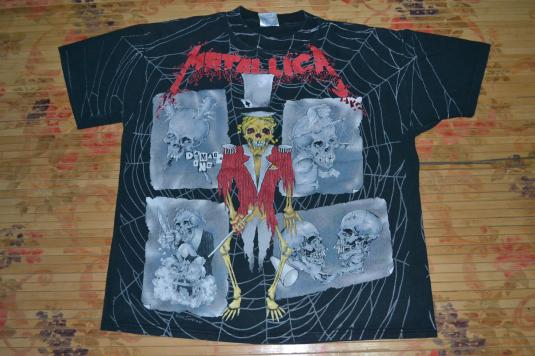 VINTAGE 1992 METALLICA ALL OVER PRINT ALBUM PROMO T-SHIRT