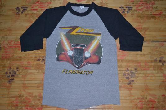 Vintage 1983 ZZ TOP Eliminator Across USA Baseball Jersey