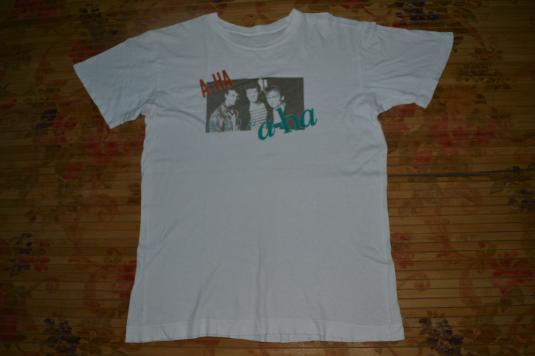 Vintage 1987 A-HA Japan Tour T-shirt