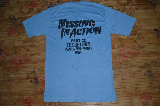 VINTAGE 1984 MISSING IN ACTION THE RETURN MOVIE T-SHIRT