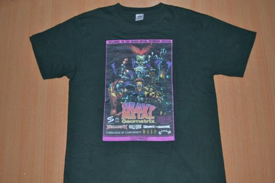 Vintage 90s HEAVY METAL Geomatrix game T-shirt