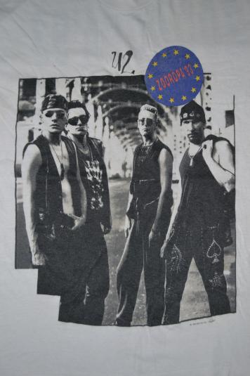 VINTAGE 1993 U2 ZOOROPA CONCERT TOUR PROMO T-SHIRT