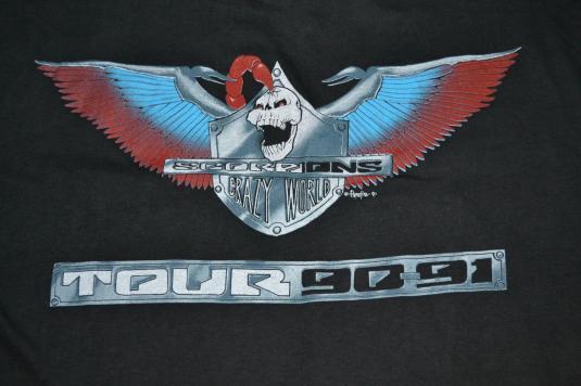 Vintage 1990 SCORPIONS 1990-91 Tour Concert Promo T-shirt