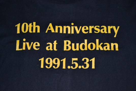 Vintage 1991 LOUDNESS 10th Anniversary Live Budokan T-shirt