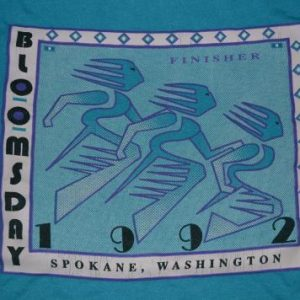 Vintage NIKE Bloomsday Finisher Spokane run 1992 T-shirt