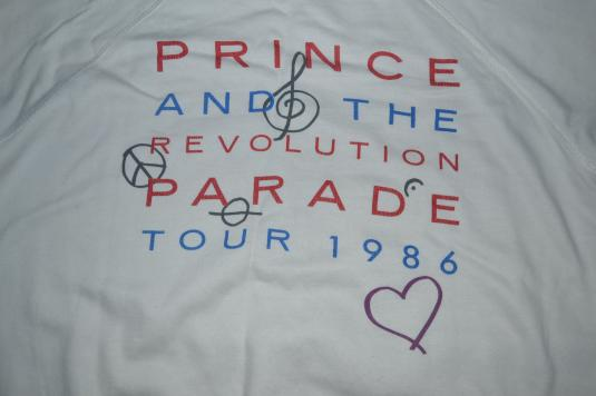 Vintage PRINCE AND THE REVOLUTION Parade Tour 1986 Sweater
