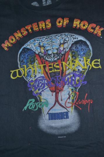 Vintage 1990 MONSTERS OF ROCK Donington T-shirt
