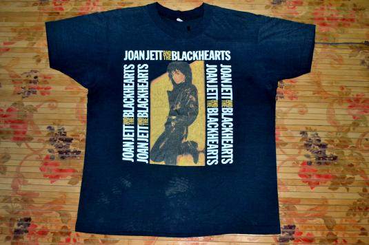 VINTAGE 80s JOAN JETT AND THE BLACKHEARTS CONCERT TOUR SHIRT
