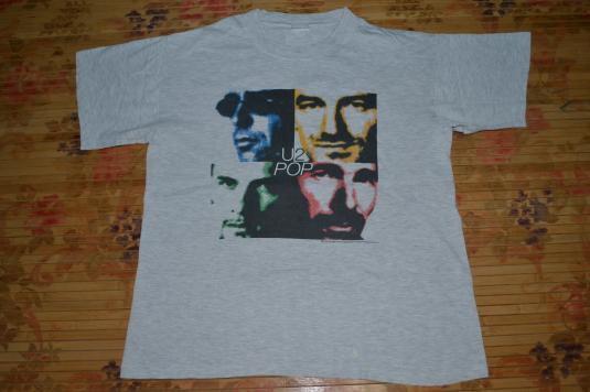 VINTAGE 1997 U2 POP MART CONCERT TOUR PROMO T-SHIRT